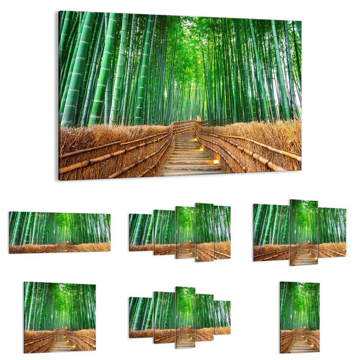 QUADRO MODERNO Stampa su tela bambù pianta 3979 IT