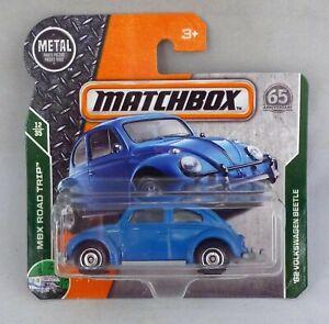 AgréAble Matchbox Mb16'62 Volkswagen Beetle Short Bleu Carte-afficher Le Titre D'origine