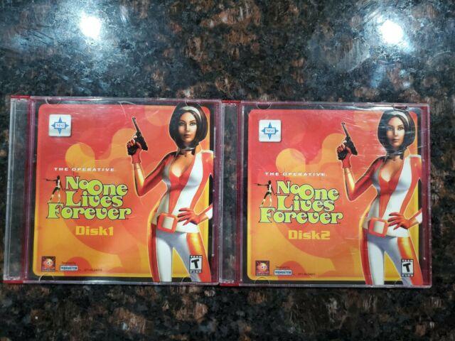 NO ONE LIVES FOREVER PC 2 DISC SET RARE NOLF THE OPERATIVE 2000