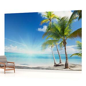 Beach Sea Sand Tropical landscape PHOTO WALLPAPER WALL MURAL ROOM - 735PP