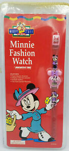 Details about Vintage New Disney 90s Mickeys Stuff for Kids Minnie Mouse  Kids Watch Pink Face