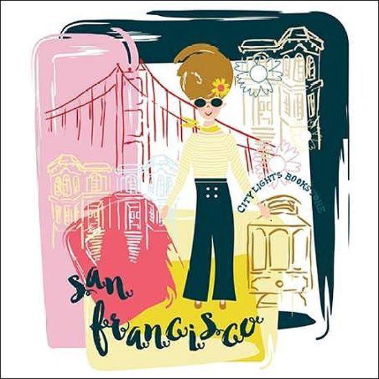 Esther BLEY Consigliere Design  San Francisco Fun telaio-Immagine Tela Collage Moderno