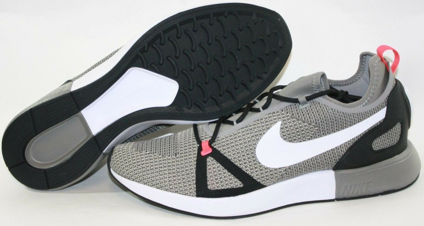 NEW Mens NIKE Duel Racer 918228 008 Charcoal Grey White Black Sneakers shoes