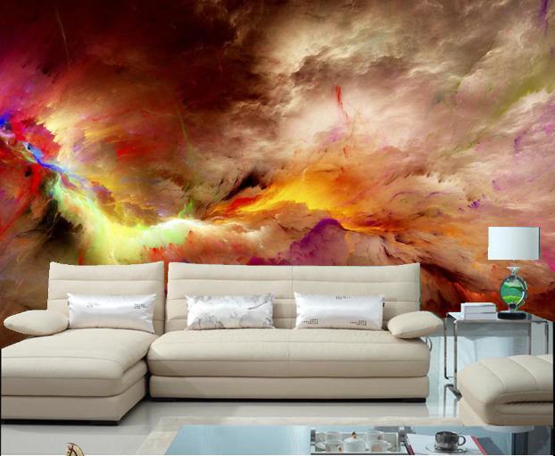 Papel Pintado Mural De Vellón Pintura Al Óleo Colorida Fondo 32 Paisaje Fondo Colorida Pantalla 512798