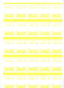 Railway-Locomotive-Imperf-Yellow-Proof-Sheet-Of-50-Pairs-S418