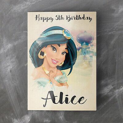 Personalised Birthday Card Granddaughter Girls Sis JASMINE DISNEY PRINCESS