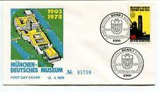 1978 Munchen Deutches Museum First Day Cover Bonn 1 75 Jahre SPACE NASA