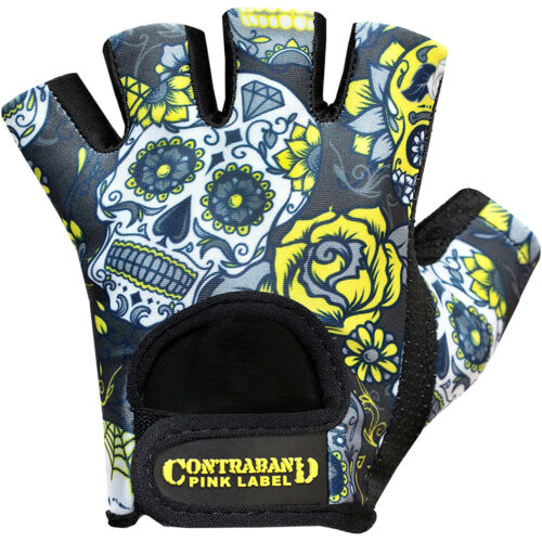 Contraband Sports 5237 Pink Label Sugar Skull Weight Lifting Gloves