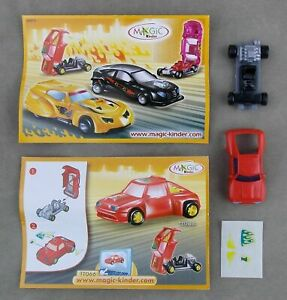 TT066-AUTO-ROSSA-BPZ-KINDER-SORPRESA-ITALIA-2007-2008