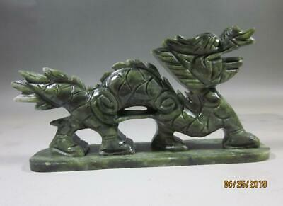 100/% China/'s natural jade statues of hand-carved statues of dragons