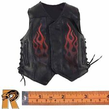 Gangsters Diamond 3 - Black Leather Vest - 1/6 Scale - Damtoys Action Figures
