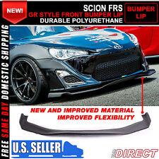 Fit 13-17 Scion FRS Subaru BRZ Front Bumper Lip Unpainted - Urethane