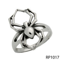 Women 925 Sterling Silver Spider Tarantula Insect Ring Size 6 7 8 9