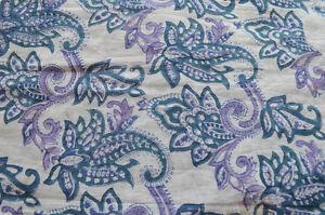 Sanganeri-Hand-Block-Print-Pure-Cotton-Fabric-Running-10-Yard-Indian-White-New