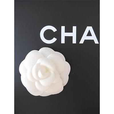 Authentic Chanel Large Cream Fabric Camellia Flower for Making a Pin or Brooch
