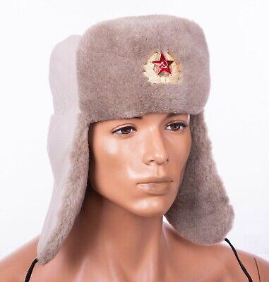 Size 58cm Medium// Large Maroon Russian style ushanka trapper hat