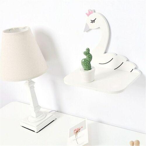 27cm Wall Shelf Swan Wood Hanging Holder for Child Decorative Shelve Home Decor