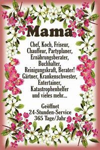 Mama-24-Heures-Service-Panneau-Metallique-Plaque-Voute-Etain-Signer-20-X-30-CM