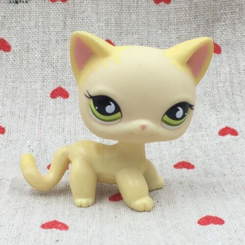 Littlest Pet Shop toys lps yellow cat shorthair #733 Rare girl collecting toys