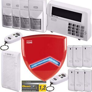 Hama-Xavax-Funk-Alarm-Anlage-DELUXE-Tuersensor-Sirene-Einbruch-Sicherheit-System
