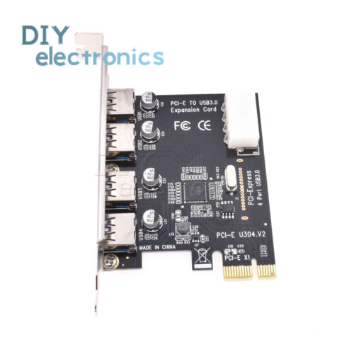 4-Port 5Gbps USB 3.0 To PCI-E Card Express Expansion Card Adapter VIA for Win7 X