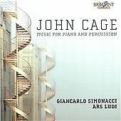 JOHN CAGE: MUSIC FOR PIANO AND PERCUSSION NEW & SEALED