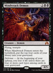 FOIL MINDWRACK DEMON x1  ~mtg NM Shadows Over Innistrad Mythic