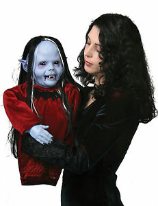 image is loading halloween nocturna vampire puppet prop yard decoration haunted - Puppet Halloween