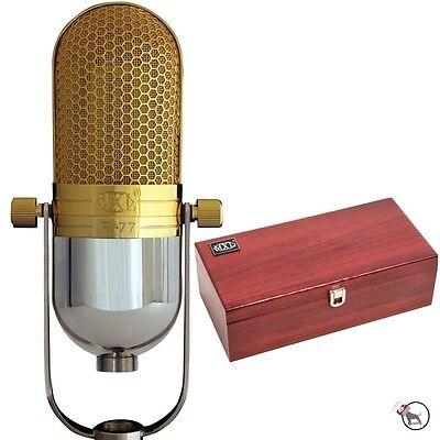 Open Box - MXL R77 Classic Ribbon Studio Recording Microphone Gold Chrome w Case