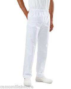 Pantalone-Bianco-con-Elastico-in-Vita-Panettiere-Pasticcere-Pizzaiolo-da-Cucina