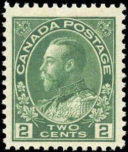 Mint-NH-1923-Canada-F-VF-Scott-107e-2c-King-George-V-Admiral-Stamp