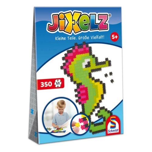 Schmidt Spiele Jixels Seepferdchen Kinderpuzzle 350 Teile 1 Motiv Mini-Puzzle