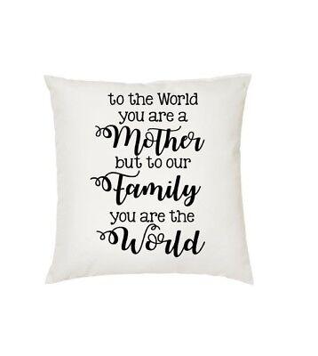 """""""al Mondo Sei Una Madre"""" Cuscino. Mamme Giorno Regalo. Regalo Speciale-"""