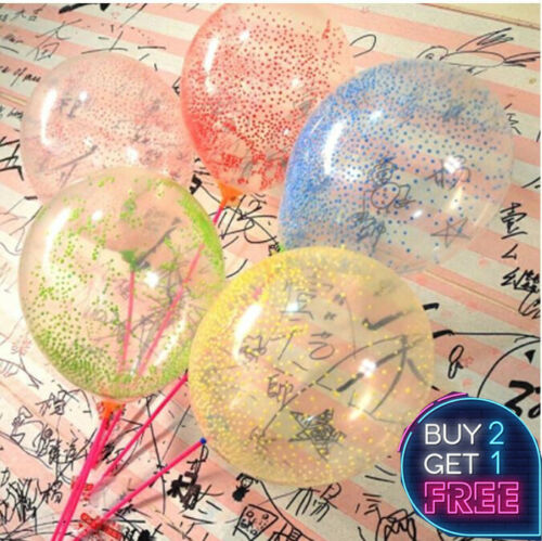"""25 Pack  Clear Foam Balloons Latex 12/"""" Decorations Helium Birthday Party Wedding"""