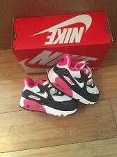 Nike Air Max 90 Trainers Size 3.5 Infants BNIB Grey White Pink