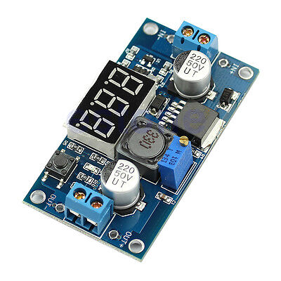 Adjustable DC 4V-40V To 1V-37V LM2596 Step Down Power Converter LED Voltmeter