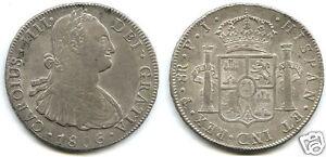 BOLIVIE-CHARLES-IIII-8-REALES-ARGENT-1806-PJ-POTOSI