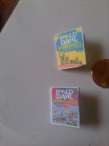 James and the Giant Peach and George/'s Marvelous...dollhouse miniature books