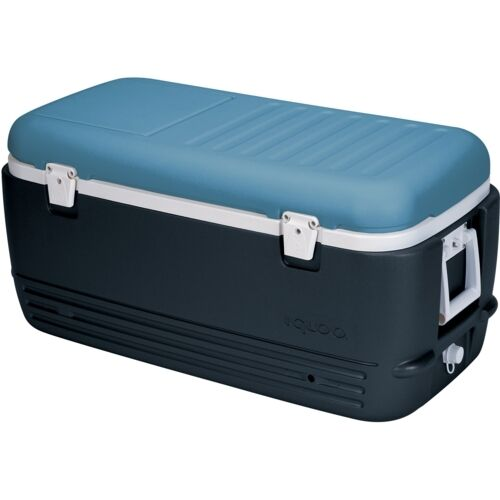 Igloo Maxcold 100 QT  Cooler Cool Box Ice Chest Jet Carbon   Ice bluee