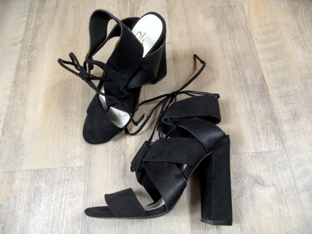 NLY schöne High Heels Sandalen black Gr. 36 TOP ZT118