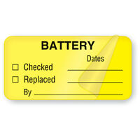 Battery Maintenance Labels Self-laminating 2w X 1h 500 Roll on sale