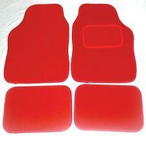 FIAT 500 08-12 FULL RED CARPET CAR FLOOR MAT SET