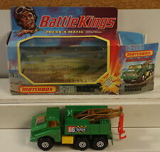 DTE LESNEY MATCHBOX BATTLE KINGS BK-110 MILITARY ARMY BR GREEN RECOVERY TRUCK