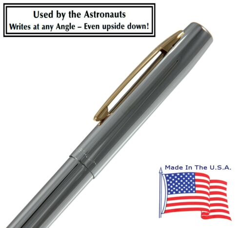 Fisher Space Pen #M4CGT Chrome Retractable Space Pen With Gold Accents