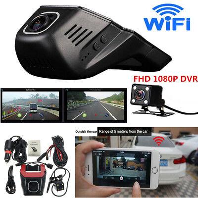 HD 1080P Hidden Wifi DVR Dash Video Recorder Dual Lens Camera+G-Sensor Car SUV