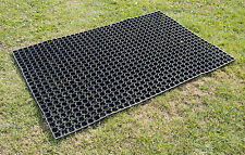 Horse Gateway Rubber Matting Grass Mat 1500mm x 1000mm FREE Ties and Fixing Pegs