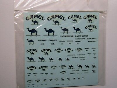 """Automotive """"camel Racing Service"""" Decal Sheet In Various Scales 1/12 1/20 1/24 To Have A Long Historical Standing"""