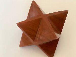 Red-Jasper-Merkaba-Star-30mm-Ezekiels-Wheel-Meditation-Sacred-Geometry