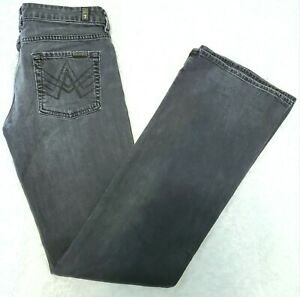 Seven-7-For-All-Mankind-Size-28-A-Pocket-Flare-Jeans-Gray-Denim-Womens