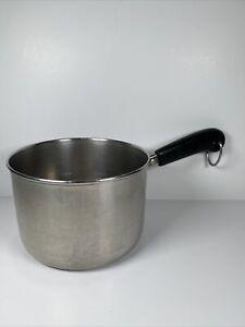 Vintage Revere Ware 1 1/2 Quart Saucepan Pot NO LID 1801 All Stainless Steel